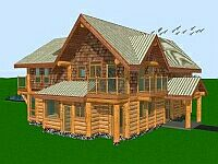 Bruce and Darlene - Galiano House - 3D